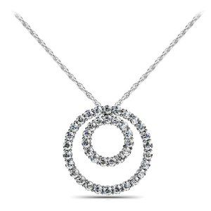 Jewelry - 8.20 Ct sparkling diamonds double circle pendant n